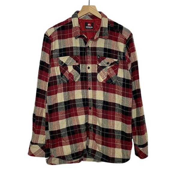 Quiksilver Plaid Flannel Button Down Shirt